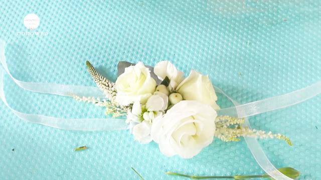 手腕花DIY制作教程 | 手工制作新娘手腕花步骤分享_什么值得买
