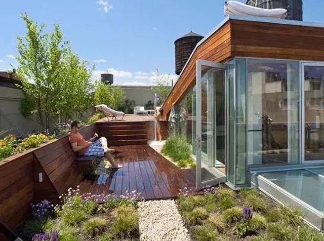 自制簡單的樓頂花園