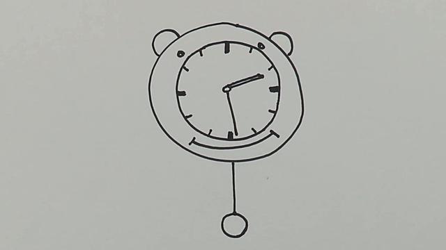 小学生画钟表一天图片
