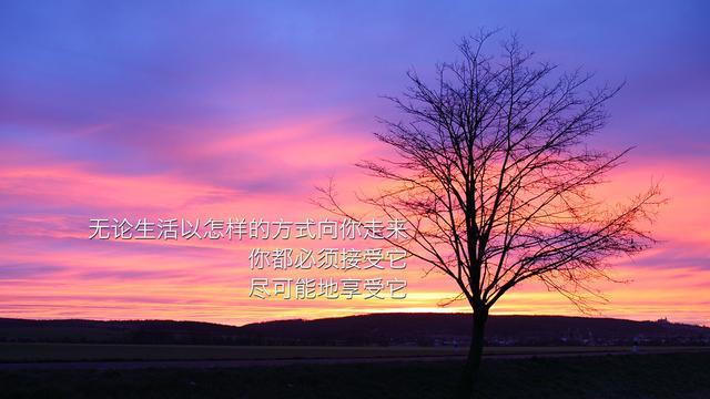 励志图片带字唯美风景(12张)_风景图片_千千花图片网