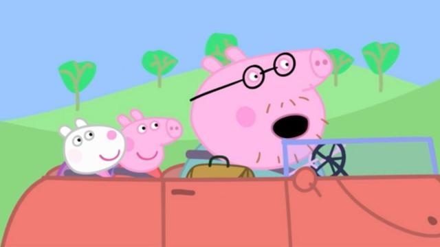 小猪佩奇和乔治简笔画