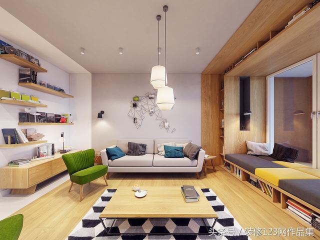杭州48㎡酒店式公寓装修,打通成大开间更敞亮!_手机搜狐网