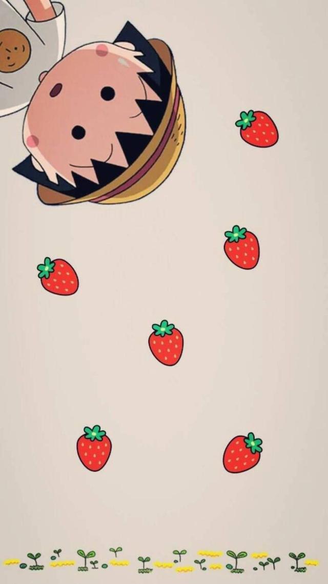 超萌可爱美美哒樱桃小丸子高清手机壁纸 好喜欢童年女神的你在哪