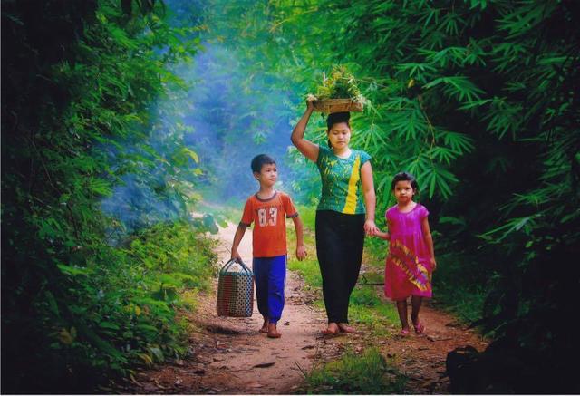 缅甸农村真实生活图片