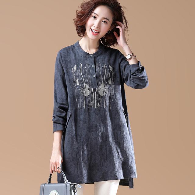 中长款棉麻女衬衫怎么搭配好看 达人为你示范各种潮搭