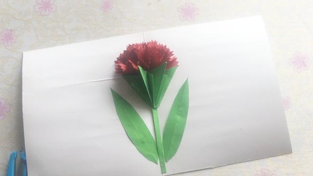 """手工折纸制作""""立体康乃馨贺卡"""", 下一个教师节贺卡提前准备..."""
