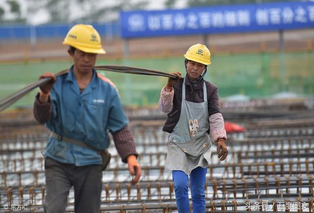 工地上干活的工人高清图片下载_红动网