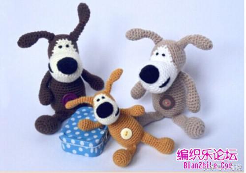 「钩编图解」活力兔、海盗熊、外星人等多款玩偶制作(中文)