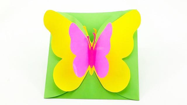 立体蝴蝶贺卡的制作图解-编织乐论坛