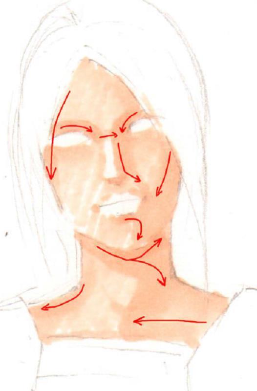 黄哲马克笔服装效果图手绘第九课:羊腿袖短衫搭配合身高腰裤
