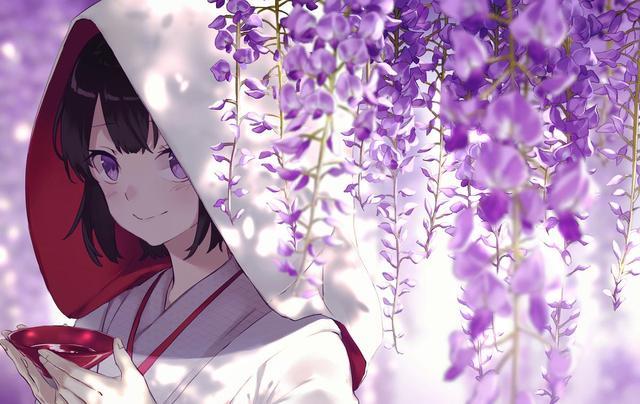 动漫紫藤图片