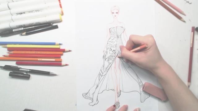 服装设计效果图--马克笔表现法 - 小组讨论 - 豆瓣