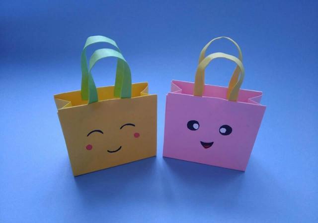 折纸简单漂亮的手提袋,创意DIY迷你礼品袋,可爱的让人爱不释手