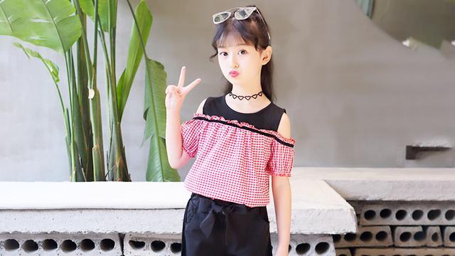 限购一件C女童夏装套装2019新款洋气时髦大童儿童装夏季网红...