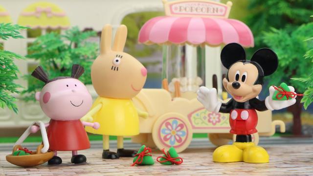 培乐多彩泥手工制作米老鼠和唐老鸭,婴幼儿宝宝玩具游戏视频E183