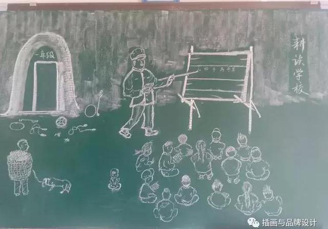 拿粉笔上课的老师简笔画画法图片步骤_小小画家