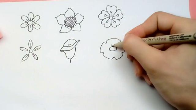 花怎么画可爱