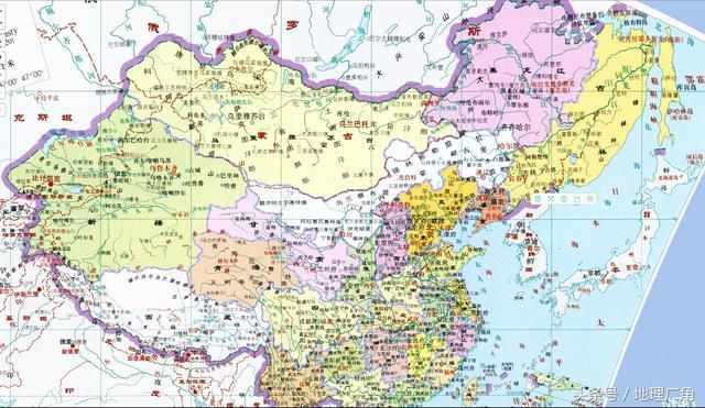 清朝以后中国地图变化
