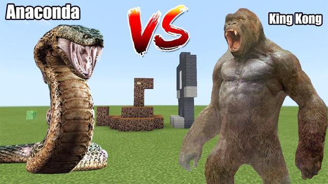 我的世界怪物学院-泰坦巨蟒 vs 金刚