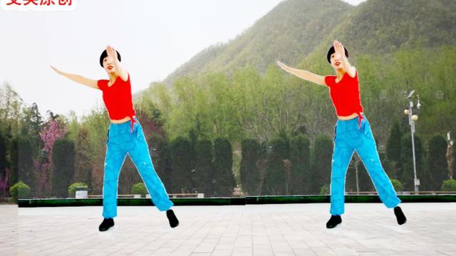 时尚夏季健身操DJ《姑娘跟我走》超级好听好看,有背面
