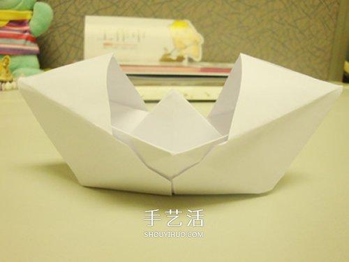 怎么折纸双船 双体船折法步骤图解 - 聚巧网
