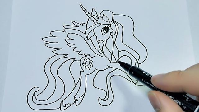 小马宝莉简笔画画法