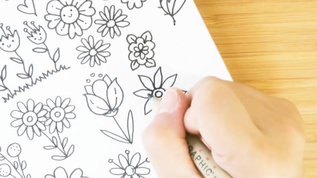 各种花的画法简笔画