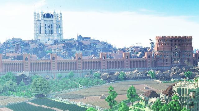 我的世界建筑设计 16种城墙设计图大全_4399手机游戏网