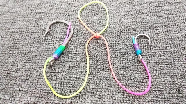 一条线串绑多个钩绑法