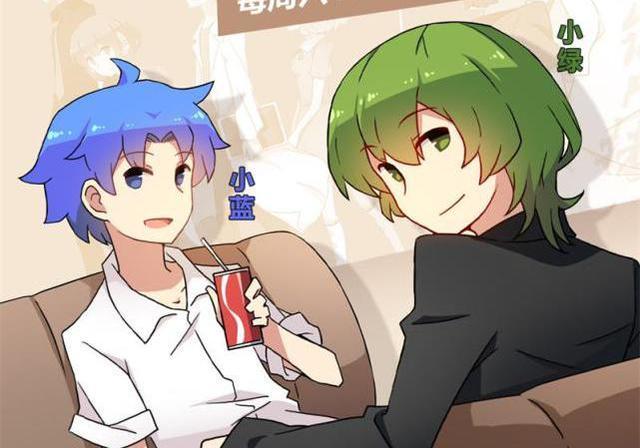 小绿和小蓝火柴人头像