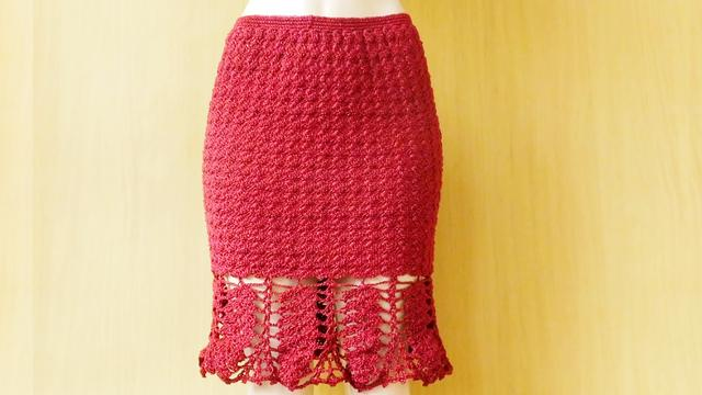 钩针编织漂亮的A版裙子,花样图解凑齐