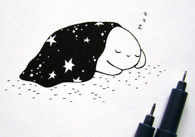 下雪的夜晚簡筆畫