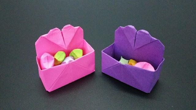 非常漂亮的爱心盒子折纸,关键是做法很简单,大家都喜欢