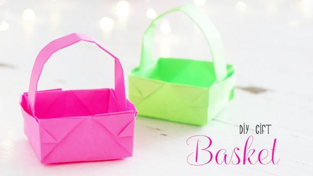很漂亮的篮子折纸,简单易学又实用,手工DIY折纸视频教程