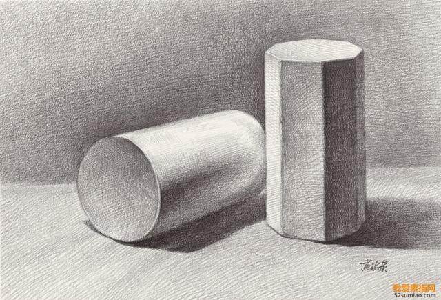 石膏几何体中透视规则及素描绘画基本要点,素描基础教... - 豆瓣