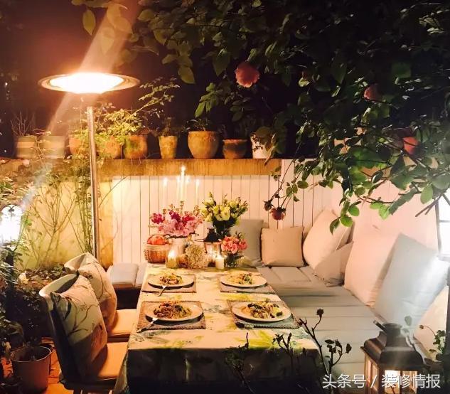 樓頂露臺花園實景圖片