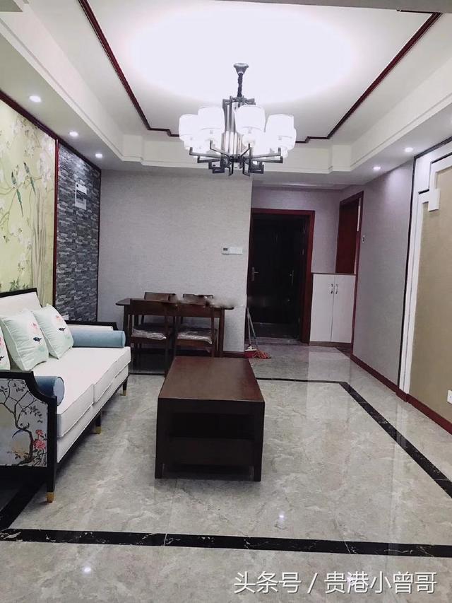 新中式风格装修效果图,客餐厅挂画卧室床头背景墙... -家家优保