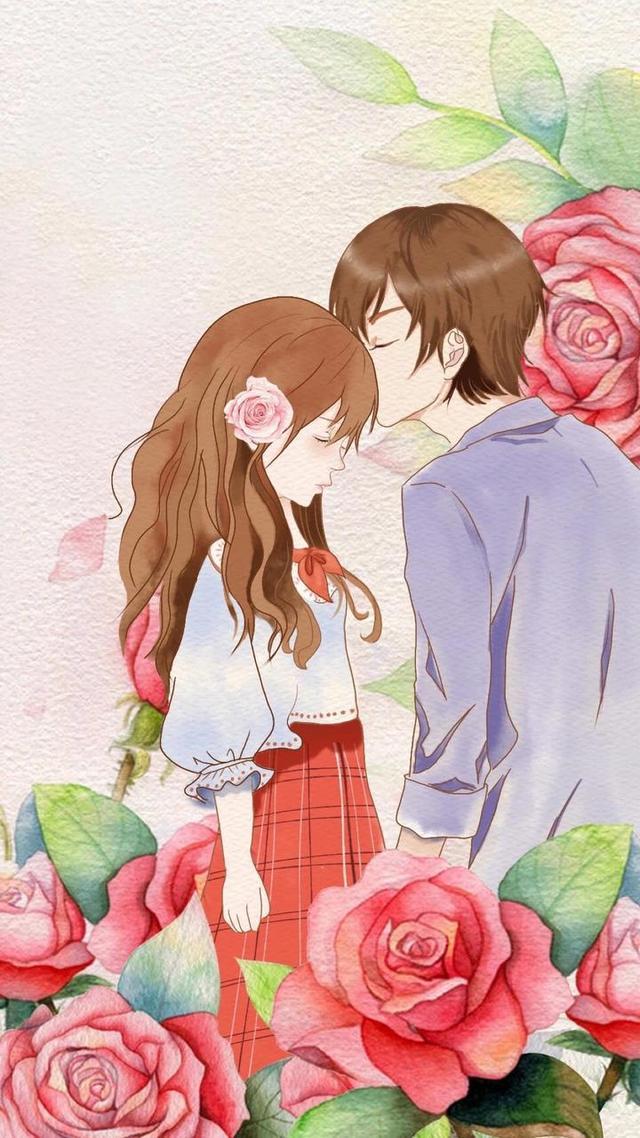 唯美情侣图片壁纸:爱是哪怕你衣食无忧,也觉得你处处需要照顾