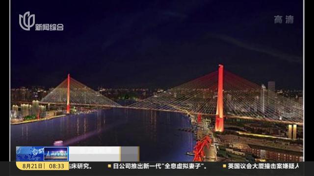 杨浦大桥素描画