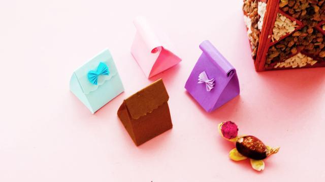 漂亮又实用的礼品袋,一张纸就能折出来,很简单的手工折纸