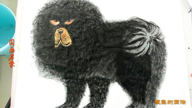 藏獒工笔图片