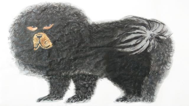 藏獒图设计图__绘画书法_文化艺术_设计图库_昵图网nipic.com
