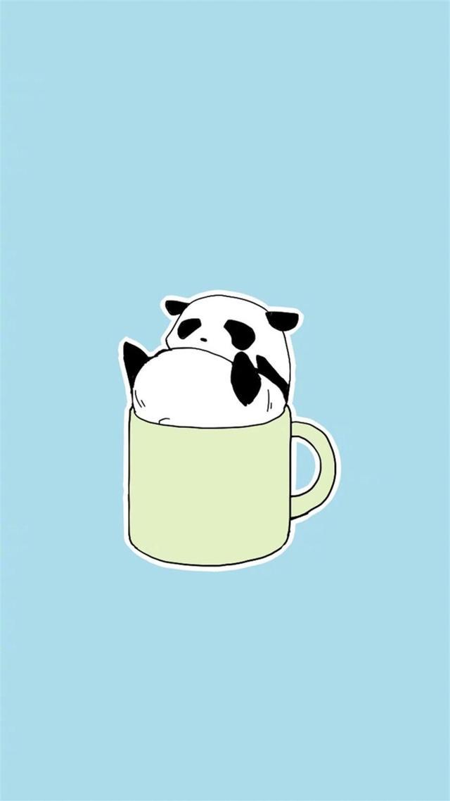 熊貓吃竹子卡通圖片