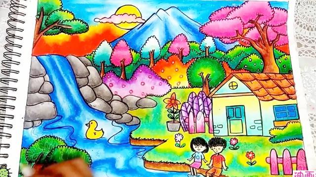 漂亮的女生人物铅笔画图片大全 - 5068儿童网