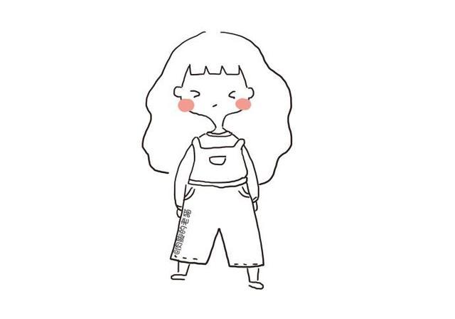 一组春天可爱小女孩简笔画_小女孩简笔画-简笔画大全