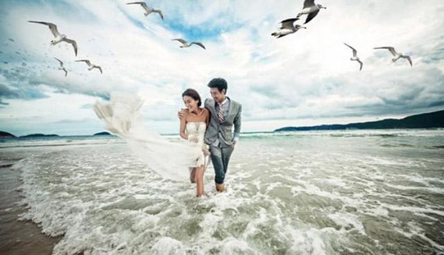 哈尔滨雪景婚纱照
