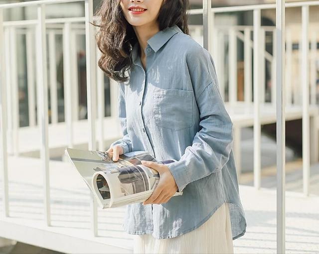 格子衬衫女长袖