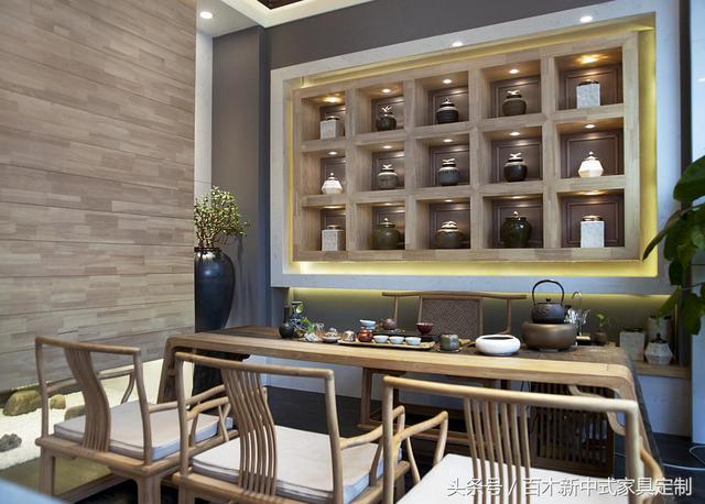 新中式茶楼装修家具配置效果图