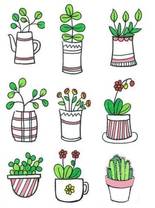 儿童植物简笔画大全!老师家长收藏喽!