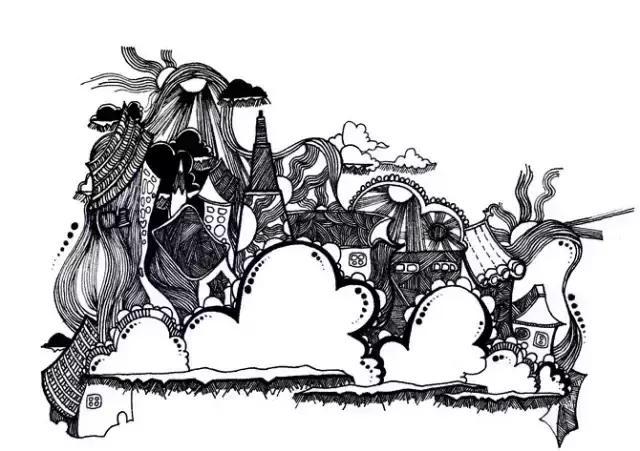 黑白装饰画——点线面_哔哩哔哩 (゜-゜)つロ 干杯~-bilibili